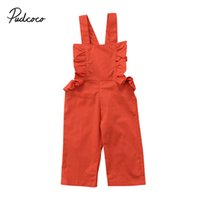 Wholesale Children Duck Down - Fashion Girls Dress Toddler Kids Baby Girls Strap Solid Jumpsuit Romper Children Girls Outfits Set Clothes 1-6T
