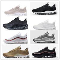 Wholesale hybrid steel - vapormax 97 Hybrid Running Shoes mens womens Bullet Japan OG White Black Pink GreenReflect Silver Vapormaxes sports size Eur36-45