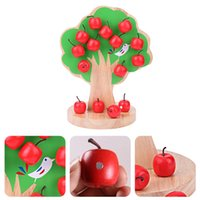 Wholesale educational apple for sale - Group buy Building Block Kits Wooden Magnetic Apple Tree Toy Learning Math Puzzle Kindergarten Teaching Aid Kids Early Educational Toy Gifts