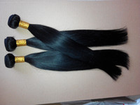 Wholesale shooting machines resale online - The real shooting Jet Black Color Virgin Straight Hair Extensions Human Hair Weave a Unprocessed Double Weft Hair Extensions