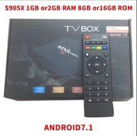 Wholesale network tv box - S905X MXQpro TV BOX network player TV box 1GB 8GB