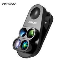 weitwinkel-objektiv-kit großhandel-Großhandel 4 in 1 Clip-on Kamera Dual Lens Kit 0.65X Weitwinkel Fischauge 10X Makro Objektiv 1.5X Teleobjektiv für iPhone 8 7 6 6s / plus