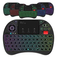 Wholesale Rii i8X Rii X8 GHz Mini Wireless Keyboard RGB LED Backlit Touchpad Mouse Combo With Rechargeable Li ion Battery