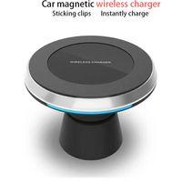 elma araba telefonu tutacağı toptan satış-Qi Araba Kablosuz Hızlı Şarj Telefon Tutucu Araç kablosuz cep telefonu desteği Kablosuz Araç Şarj Pad 2018 yeni