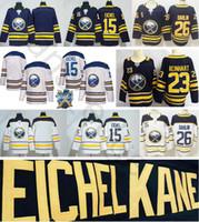 Wholesale men winter jack - 2018 Buffalo Sabres Winter Classic Jerseys #15 Jack Eichel Home Blue Blank 23 Sam Reinhart 26 Rasmus Dahlin White Stitched Hockey Jersey