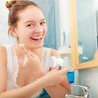 porenwaschmaschine großhandel-4 in 1 elektrische gesichtsreiniger gesicht hautpflege rotierenden pinsel massagegerät waschmaschine porenreiniger hautpflege massage