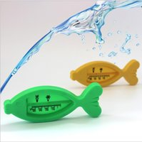 Wholesale Kitchen Girls - Hot Sale Water Thermometers Kid Floating Fish Cute Baby Care Bath & Shower Product Plastic Float Baby Boy Girl Bath ToyTester