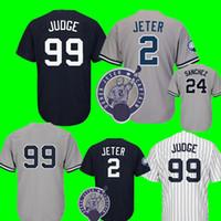 Wholesale cheap 42 - New York 99 Aaron Judge Jersey Men's 3 Babe Ruth 7 Mickey Mantle 42 Mariano Rivera 51 Bernie Williams Baseball Jerseys Cheap wholesale