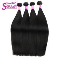 28 pulgadas de pelo camboyano al por mayor-Soul Lady Cambodian Straight Hair Bundles Color natural 8-28 pulgadas Pelo no remy Extensiones humanas 100% 1pcs puede comprar 3 o 4