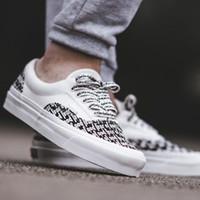 56% Sale Vans – Era – Karierte Skate Schuhe in Schwarz Weiß
