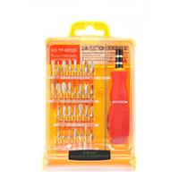 handys reparaturwerkzeug-kit großhandel-Professionelle Flexible 32 in1 Precision Schraubendreher Set Handy PC Tablet Reparatur Kit Werkzeuge Freies DHL