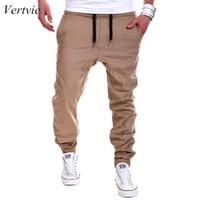 Wholesale Plus Size Harem - vertvie Autumn Men Pants Hip Hop Trouser Harem Pants 2017 Brand Solid Gym Jogger Sweatpants Plus Size Running M-6XL