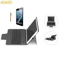 ipad de bluetooth de teclado de caixa de tabuleiro venda por atacado-Kemile teclado bluetooth ultra slim com suporte inteligente case capa de couro leve tablet keypad klavye para ipad air 1 2