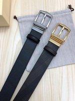 ingrosso cintura in pelle di cioccolato-Cintura in pelle nera con cinturino in pelle con motivo check nero Cintura nera con cinturino in pelle con cinturino in pelle nera Nuovo con scatola