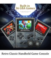 Wholesale Kids Mini Music Player - Retro Game GBA game Console 32 Bit Portable Mini Handheld Game Players Built-in 36 + TF card extended For GBA Games For Kids