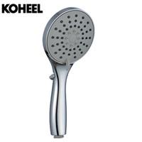Wholesale shape hose online - K8 Showe Head Chrome Basin Shower Set Round Shape Shower Head With Hose And Hand With Inch Rainfall
