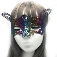 Wholesale mardi gras prom dresses - 10pcs masquerade dresses and masks For women Seductive Prom Halloween Venetian Mardi Gras Fancy Sexy Elegant Beautiful Half Face Lace Masks