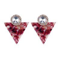 colorful chandeliers 2018 - New Geometric Triangle Colorful Rhinestone Drop Dangle Earrings Long Pendant Earrings Women Wedding Crystal Hanging Earring