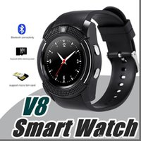 Wholesale i watch bluetooth online - 10X NO kid V8 Smart Watch Bluetooth Watches Android with M Camera MTK6261D DZ09 GT08 Smartwatch for android phone I BS