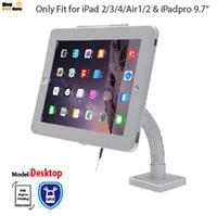 tabletas de cuello de cisne al por mayor-tablet Security Gooseneck Soporte antirrobo de montaje en pared de mesa con soporte de pantalla de bloqueo para ipad 2 3 4 Air1 2 Pro 9.7