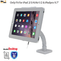 Wholesale tablet security display stand - tablet Security Gooseneck Tabletop Wall Mount holder anti-theft bracket with lock display stand for ipad 2 3 4 Air1 2 Pro 9.7