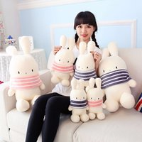 Wholesale rabbit doll wedding for sale - Group buy cute big ears rabbit plush toy bunny doll doll wedding throwing small gifts