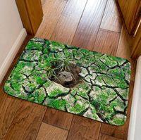 ingrosso stuoia verde del mouse-Nuovo modo 3D mouse buco stampa zerbino casa moderna tappetino del fumetto bambini camera anti-scivolo tapis spedizione gratuita