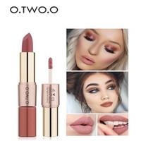 Wholesale long lasting moisture lipstick resale online - O TWO O Colors in1 lipstick Lips Makeup Gloss Long Lasting Moisture Cosmetic Lipstick Red Lip Matte Lipstick Waterproof