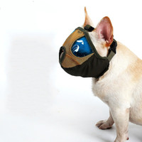mundhunde großhandel-Wasserdichte Nylongewebe-Haustier-Mund-gesetzte flache Gesicht-kurze Mund-Haustier-spezielle Absichtsatemmaske PVC-Netz-Art- und Weisehunde-Gazemasken 25dm Y