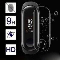 proteção de tela xiaomi venda por atacado-3d curvo superfície transparente filme de proteção de tela clara para xiaomi mi banda 3 smartwatch watachband wearable dispositivos relogios