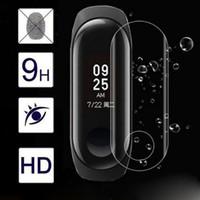 xiaomi bildschirmschutz großhandel-3D gebogener transparenter klarer Schirm-Schutz-Oberflächenfilm für Xiaomi Mi-Band 3 SmartWatch Watachband tragbare Geräte relogios