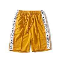 ingrosso pantaloni gialli per gli uomini-La West In The West Lettera Pantaloni corti giallo e bianco Abbigliamento bambini Personalizzati Uomini e donne Lettera pantalone pantalone GIVE