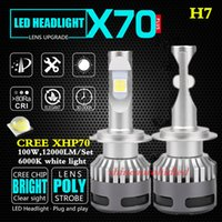 Wholesale 9005 HB3 HB4 H4 H7 H8 H9 H11 D1S D2S D3S D4S Cree XHP70 LED Headlight Kit car Bulbs W LM K lighting headlamp fog lamp