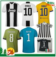 Wholesale Buffon Jerseys - 18 19 DYBALA HIGUAIN POGBA soccer jersey 2018 2019 Italy away CUADRADO KHEDIRA MARCHISIO MANDZUKIC CHIELLINI BUFFON DANI ALVES shirt