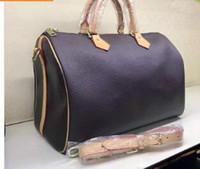 bolso de tres tonos al por mayor-Bolsa de mensajero para mujer Estilo clásico Bolsos de moda bolso de mujer Bolsos de hombro Bolsos de señora Speedy 35 cm # 41526