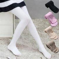 algodão branco pantyhose venda por atacado-Meninas Dança Meias Meias Leggings de Algodão Para Meninas Do Bebê Meias Seguras Meia-calça Branca Para Dançar 90-165 CM