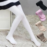 pantimedias de algodón blanco al por mayor-Niñas Medias de baile Medias de algodón Calcetines para niñas Calcetines seguros Medias blancas para bailar 90-165 CM
