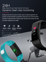 Wholesale color red activities - single-piece Smart Band Watch Color Screen Wristband Heart Rate Activity Fitness tracker Smartband Electronics Bracelet VS Xiaomi Miband 2