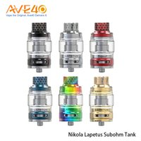 Wholesale normal bulbs for sale - Authentic Nikola Lapetus Subohm Tank with ml Normal Glass Tube ml Bulb Glass Tube Airflow Control System Orginal