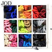 ingrosso corda in cotone lavorato a maglia-JODd 5mm * 10 Metri Intrecciati Twined Cotton Corda Colorata Corda Macrame Cord Decorativi Twine Coton Rosso Rosa Verde Nero Knit
