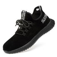 дышащие защитные сапоги оптовых-Мужская дышащая обувь безопасности стальной носок коровы замши рабочие сапоги прокол доказательство безопасности сапоги легкий стальной носок обувь