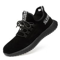 bottes de sécurité achat en gros de-Chaussures de sécurité respirantes pour hommes Bottes de sécurité en cuir suédé en cuir suédé