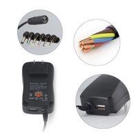 lg netzteil großhandel-3-12V 12W verstellbares Netzteil mit USB-Anschluss 4.5 / 5/6 / 7.5 / 9V 2.1A Multifunktions-Ladegerät Tragbarer Spannungsregler Schalter Netzteil