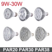 Wholesale cree bulbs par online - DHL Not Dimmable Led bulb par38 par30 par20 V W W W W W W E27 par LED Lighting Spot Lamp light downlight