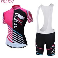 TELEYI BIKE 2017 New Summer Women MTB Bike Cycling Clothing Breathable  Bicycle Clothes Ropa Ciclismo Girls UV Cycling Jersey 8b1dc4c18