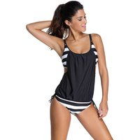 Wholesale swimwear 11 online - New Swimwear Hollow Out Lace Up Tankini Set Women Clothes Swimsuit bathing suits Triangle Boxer Brief Designs Summer Beach Wear
