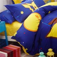 Wholesale cotton sheets for kids cartoons - Cartoon Pikachu Bedding Set Hello Kiy s Cartoon Duvet Cover Bed Sheet Pillowcase for Kid Adult 3 4pcs Queen Twin