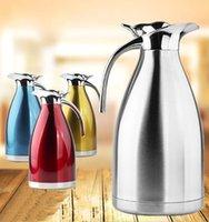 pot à vide en acier inoxydable achat en gros de-Casserole isotherme en acier inoxydable double bouilloire cadeau européen cadeau de bouteille d'eau froide