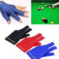 Wholesale Spandex Snooker Billiard Cue Glove Pool Left Hand Open Three Finger Accessory