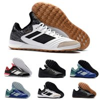Wholesale tangos shoes online - 2018 Copa Tango IN TF cheap indoor soccer shoes football boots high top mens soccer cleats